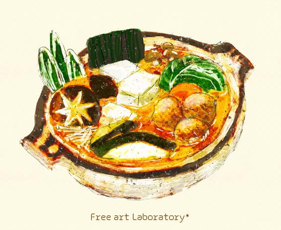 冬の鍋のイラスト
